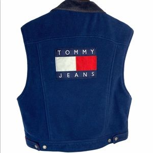 Tommy Hilfiger Spell Out Fleece Vest